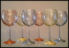 In stock. Hand painted red wine glasses.  by SpitsnogleDesigns, $35.00