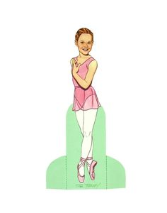 """Nutcracker Ballet [or Kati, the Nutcracker Ballerina]  Paper Doll"" by Tom Tierney, Dover Publications (2 of 8)"