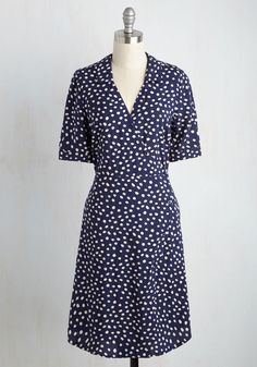 Career Fair Charmer Dress in Navy