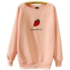 NN01 Harajuku Pastel Strawberry Pink Hoodies Sweatshirts for Womens at... ($25) ❤ liked on Polyvore featuring tops, hoodies, sweatshirts, pink hoodie, hoodies sweatshirts, red sweatshirt, pink hoodie sweatshirt and hooded pullover
