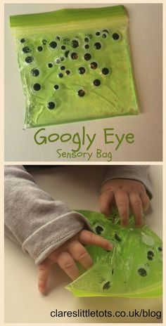 This morning my nearly 6 month old had his first go at sensory play with this Halloween themed googly eye sensory bag. This mess free sensory play is great for little hands to explore without the clean up at the end. As with all messy and sensory ...