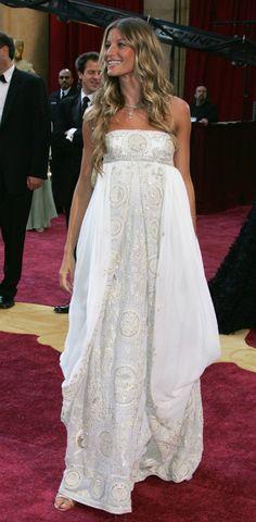 Gisele Bundchen in Dior at Oscars 2005