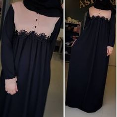 Hijab Style, Hijab Chic, Muslim Dress, Hijab Dress, Beautiful Long Dresses, Simple Dresses, Abaya Fashion, Fashion Dresses, Modele Hijab