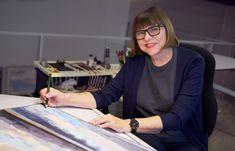 Eva Bartel, photography by Evan Will, SHARKO STUDIOS Watercolor Landscape Paintings, Studios, Artist, Photography, Photograph, Fotografie, Studio, Photo Shoot, Fotografia