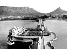 Photo Mug-Cape Town Pier-Photo Mug made in Australia Fine Art Prints, Framed Prints, Cape Town South Africa, Table Mountain, Historical Pictures, African History, Heritage Image, Photographic Prints, Poster Size Prints