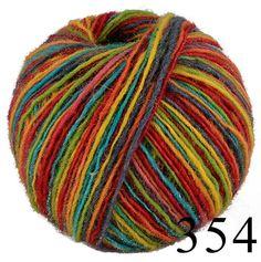 Naturan Sheep Wool yarn horce. Multicolor wool yarn by HandyFamily