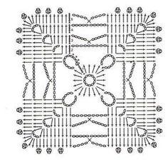 Motivo unit crochet pattern