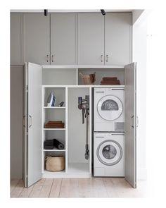Laundry Bathroom Combo, Laundry Cupboard, Utility Cupboard, Cupboard Storage, Laundry Closet, Downstairs Bathroom, Concealed Laundry, Hidden Laundry, European Laundry