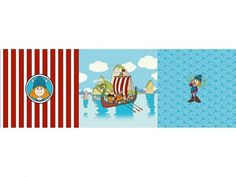 Cotton Jersey Wickie, Panel 2 (50 x 150 cm)