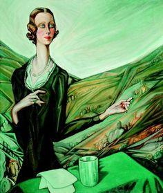 Abigail 2010 Autumn Auction - Top 10 - Art Trade and Art Harlem Renaissance, Magic Realism, Art Deco, Art Clipart, Paint Shop, Woman Painting, Belle Epoque, Girls Be Like, Shades Of Green