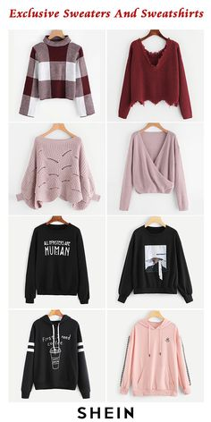 Exclusive sweaters and sweatshirts fall outfits стильная оде Cute Outfits For School, Outfits For Teens, Fall Outfits, Teen Fashion Outfits, Stylish Outfits, Mode Hijab, Teenager Outfits, Korean Fashion, Sweatshirts