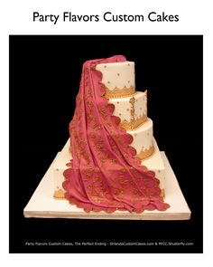 Sari wedding cake