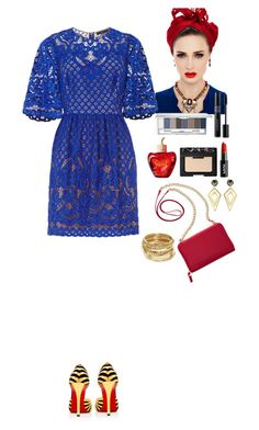 """""""Outfit"""" by eliza-redkina ❤ liked on Polyvore featuring BCBGMAXAZRIA, TravelSmith, Christian Louboutin, Clinique, Christian Dior, Lolita Lempicka, NARS Cosmetics, ABS by Allen Schwartz, Sarah Magid and outfit"""