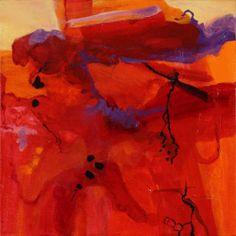 Red Dawn # 1 : Acrylic : Marilyn Dillard