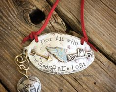 Not all who wander are lost - hand stamped christmas ornament - vintage flatware - Edit Listing - Etsy