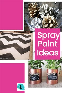 Ultimate list of DIY spray paint crafts you can do on a budget. These are super cool little projects that you dont' have to be a pro crafter to do. SUPER EASY IDEAS! Check out the big list of home spray paint ideas on Listotic. Easy Diy Crafts, Crafts To Make, Fun Crafts, Arts And Crafts Projects, Diy Projects, Spray Paint Crafts, Creative Walls, Adult Crafts, Spray Painting