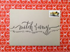 Hardink Calligraphy: Engagement Party Invitation