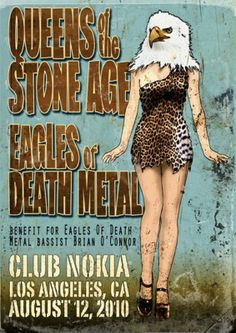 Queens of the stone age and Eagles of death metal Los Angeles, CA August 12, 2010 poster
