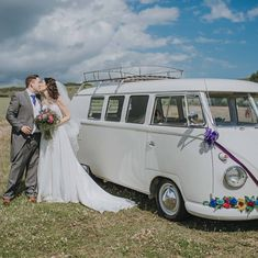 A camper van is the perfect backdrop for a wedding photo in the countryside 💜 Hire Peggy from Photo by Nicki Feltham Photography Wedding Hire, Wedding Day, Photography 101, Wedding Photography, Wedding Portraits, Wedding Photos, Portrait Poses, Camper Van, Countryside