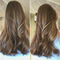 Caramel balayage on brunette hair Caramel sweep on brunette hair Balayage Hair Caramel, Brown Hair Balayage, Caramel Hair, Hair Color Balayage, Balayage Brunette, Brown Hair With Blonde Highlights, Thin Hair Haircuts, Burgundy Hair, Brunette Hair