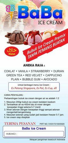 081269555533 - bubuk ice cream premix -70k tuk 1kg