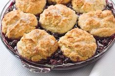 Fresh Blueberry Cobbler with Biscuit Topping