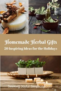 Homemade herbal gifts are a delightful way to share our love for everything herbal. Instead of joining the holiday shopping rush, we can take the time to slow down and enjoy the creative process of making simple gifts for those we love. Simple Gifts, Make It Simple, Do It Yourself Inspiration, Diy Gifts For Friends, Bff Gifts, Kraut, Herbal Remedies, Homemade Gifts, Aromatherapy