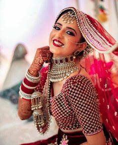 #redlehenga #bride #lehenga  Indian Fashion Dresses, Indian Bridal Outfits, Indian Bridal Fashion, Indian Bridal Wear, Bridal Poses, Bridal Photoshoot, Bridal Shoot, Indian Wedding Planner, Indian Wedding Photography Poses