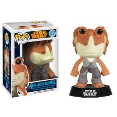 Funko POP Star Wars: Jar Jar Binks Bobble Figure From Star Wars Episodes I, II and III, the Gungan you love to hate has been given the vinyl figure bobble head Disney Pop, Funko Pop Star Wars, Star Wars Toys, Pop Vinyl Figures, Star Wars Characters, Star Wars Episodes, Star Wars Jar Jar, Jar Jar Binks, Pop Bobble Heads