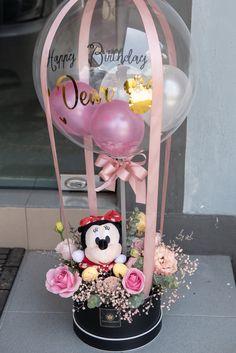 Balloon Box, Balloon Gift, Balloon Flowers, Balloon Bouquet, Candy Bouquet Diy, Diy Bouquet, Balloon Arrangements, Balloon Centerpieces, Flower Box Gift