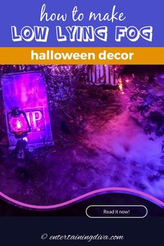 Learn how to make low lying fog with an inexpensive fog machine and a few cheap construction supplies. This is one of the easiest fog machine ideas for making your Halloween yard haunt or party look spooky. Halloween Yard Art, Halloween Graveyard, Spooky Halloween Decorations, Theme Halloween, Halloween Haunted Houses, Outdoor Halloween, Halloween House, Halloween Stuff, Halloween Ideas