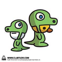 Tuzki & Duck: DinoTuzki and DinoDuck.
