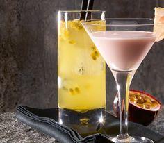 Der klassische Gin Tonic wird hier mit Passionsfrucht und Grand Marnier verfeinert. Der hat Lieblings-Cocktail-Potential.