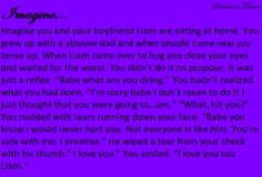 1d imagines..aww Liam would never hurt ANYONE!