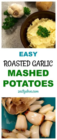 Here's an easy recipe for zesty Roasted Garlic Mashed Potatoes. Roasted garlic adds that delicious zing to the potatoes. You'll have this family favorite side dish ready in no time!
