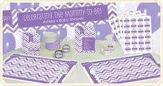Chevron Purple Baby Shower Theme