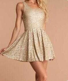 Golden Birthday Dress 21 Nye Sequin Up