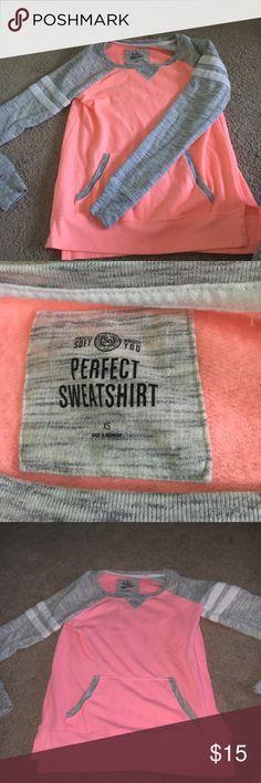 Long sleeve sweater Peach and grey Long Sleeve, never been worn! Tops Tees - Long Sleeve