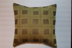 Urban Chic 16x16 Green Gold Shimmer Pillow by DecorTreasures on Etsy