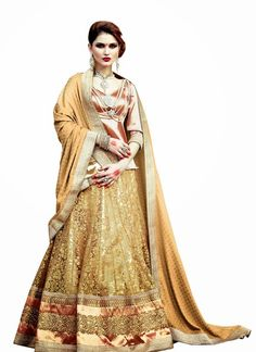Fancy Cream Lehenga Choli