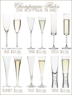 Beautiful flutes to contain one of my favorite things! Cheers!
