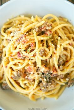 Buddy Vs Carbonara with SausageReally nice recipes. Every #hashtag