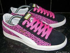 Puma clyde #fashion #leopard #pink #yomtvraps