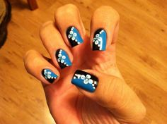Black & Blue - Nail Art Gallery by NAILS Magazine