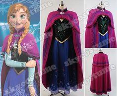 Film Frozen Prinzessin  Anna Kostüm mit Mantel  DE