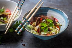 Thai beef salad Leftover Roast Beef, Salad Recipes, Healthy Recipes, Meat Recipes, Healthy Meals, Thai Beef Salad, Great British Chefs, Tesco Real Food, Cooking Chef
