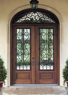 Glasscraft St. Charles Mahogany Door - 8 foot