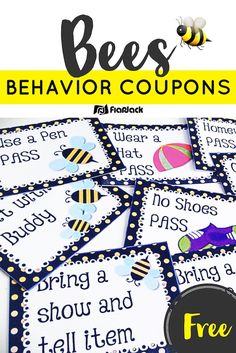Whether you're doing the bee theme or not, these free bee-themed behavior coupons will be sure to motivate your students.