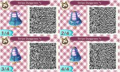 AC QR Code: Striped Dungarees (Many Colors!)