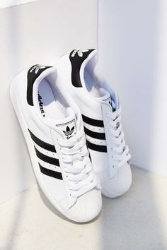 Adidas Superstar sneakers.